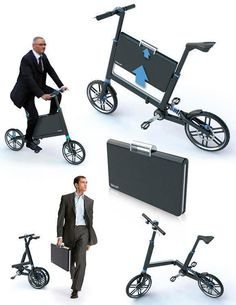 Bikoff by Marcos Madia, is a folding bike with a built-in briefcase.