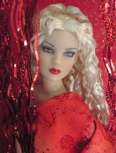 About Cami in red: Cami basic platinium OOAK dress by me