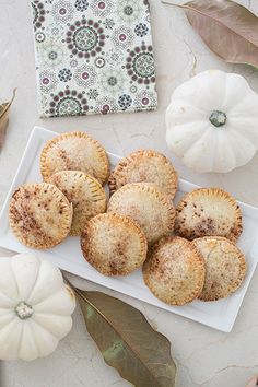 Mini Pumpkin Hand Pies But with a crust from scratch. Yum!
