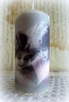 dekupáž na sviečke