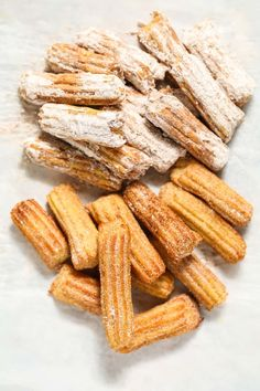 finished air fryer churros ready to serve Air Fryer Dinner Recipes, Air Fryer Recipes Easy, Fun Easy Recipes, Donut Recipes, Mexican Food Recipes, Dessert Recipes, Cooking Recipes, Mexican Desserts, Cupcake Recipes