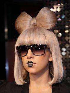 Lady Gaga hair bow
