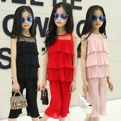 $19.84 (Buy here: https://alitems.com/g/1e8d114494ebda23ff8b16525dc3e8/?i=5&ulp=https%3A%2F%2Fwww.aliexpress.com%2Fitem%2F3-12T-Summer-Korea-Star-Fan-Fashion-Temperament-Girls-Sets-Folds-Cake-Mesh-Chiffon-Sleeveless-Pants%2F32694887407.html ) 3-12T Summer Korea Star Fan Fashion Temperament Girls Sets Folds Cake Mesh Chiffon Sleeveless+Pants 2 Pieces Kids Clothes Sets for just $19.84