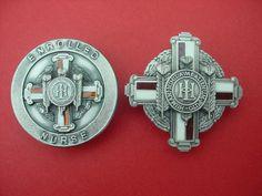London Hospital History Of Nursing, School Badges, Irish Catholic, National Health Service, Nursing Pins, Vintage Nurse, Nurse Badge, Always Learning, Nursing Students
