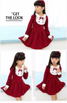 Enfant Vetement ropa las muchachas 7 11 años niñas otoño niños chándal de los bebés del desgaste de las muchachas de manga larga vestidos elegantes con el arco en Vestidos de Bebés en AliExpress.com | Alibaba Group