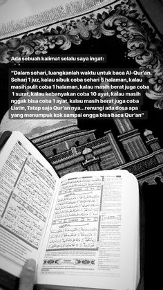 Luangkan waktumu untuk membaca al qur'an Quran Quotes Love, Text Quotes, Words Quotes, Life Quotes, Qoutes, Hadith Quotes, Powerful Motivational Quotes, Quran Quotes Inspirational, Reminder Quotes