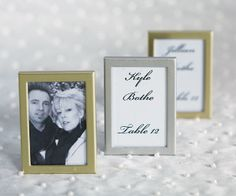 Easel Back Mini Photo Frames Set Of 3 Picture Diy Wedding