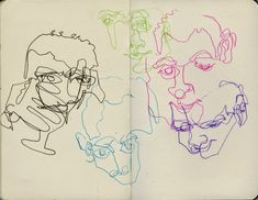 Blind contour drawings – Koosje Koene Contour Line Art, Blind Contour Drawing, Contour Drawings, Drawing Faces, Observational Drawing, Gesture Drawing, Drawing Skills, Drawing Lessons, Sketchbook Inspiration
