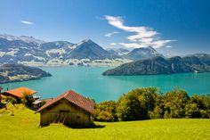 Beautiful view to Lake Lucerne (Vierwaldstattersee ) and mountain Pilatus from Rigi, Swiss Alps.   http://suitcasesandsunsets.com/the-alps.html
