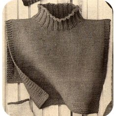 This pattern contains instructions to knit the dickey shown above. This is a turtleneck dickey that will stay put. It is designed extra wide, extra deep. It is made in stockinette stitch with garte Knitting Patterns Free, Knit Patterns, Vintage Patterns, Free Knitting, Cable Knit Hat, Knit Cowl, Collars For Women, Knit Picks, Diy Crochet