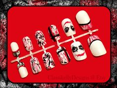 SALE 10 OFF Joker Nail Set by ClassikellyDesigns on Etsy, $16.20