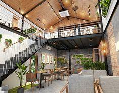 Cuong Nguyen on Behance Cafe Exterior, Restaurant Exterior, Exterior Design, Bakery Design, Cafe Design, House Design, Bakery Shop Interior, Restaurant Interior Design, Cafe Concept