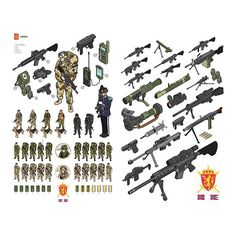 The Norwegian Army #infographic #illustration #vector #isometric
