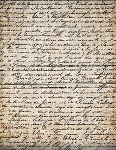 Antique Paris Handwriting Document Script Digital