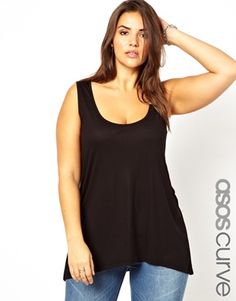 Image 1 of ASOS CURVE Exclusive Swing Vest