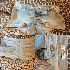 light wash hollister low rise denim short like new | worn a few times like others | will be pre washed | size 0 | yes these are the same as my others listed but these are a size 0 (: Hollister Shorts Jean Shorts