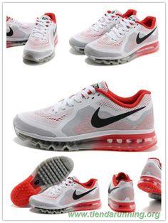 new products dee7b 4eb8f tienda de deportes Nike Air Max 2014 621077-106 Blanco Rojo Hombre Nike  Shoes