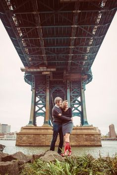 Engagement shots in Manhattan. Photography by Denver's creative photojournalistic wedding photographers - From the Hip Photo