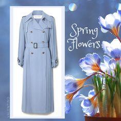 Stylish Raincoats, Rain Fashion, Spring Flowers, Valentino, Shirt Dress, Shirts, Dresses, Vestidos, Shirtdress