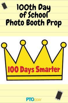 100 Days of School Photo Booth Prop Templates 100 Days Of School, Back To School, 100 Day Celebration, School Photos, Photo Booth Props, Pta, 100th Day, Craft Stick Crafts, School Teacher
