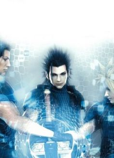 I love this picture! They each owned this sword... Angeal, Zack, and Cloud