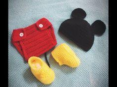 Conjunto Mickey Mouse Crochet para Bebés / Tutorial | Crochet y Dos agujas - Patrones de tejido