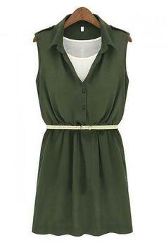 Waist chiffon dress