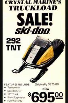 Ski parts drive doo vintage track