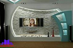 Latest gypsum board Tv wall design for living room Living Room Tv Unit Designs, Ceiling Design Living Room, Bedroom False Ceiling Design, Room Door Design, Niche Design, Tv Wall Design, Hall Design, Tv Cabinet Design, Deco Tv