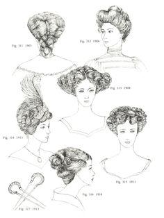 Die 32 Besten Bilder Von 1890 1915 Frisuren Hute Accessoires Etc