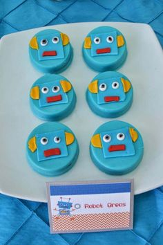 Robot party cookies
