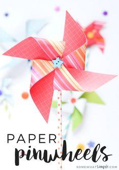 These paper pinwheel