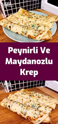 Peynirli Ve Maydanozlu Krep - is-sit tiegħi Salty Foods, Sweet And Salty, Creative Food, Iftar, Main Dishes, Special Occasion, Vegan Recipes, Brunch, Food And Drink
