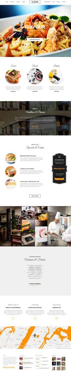 The Flavour : ThemeFuse Restaurant WordPress Theme http://www.wordpressthemereviewdesk.com/the-flavour-themefuse-review/ #WordPress