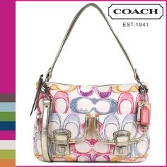 COACH 2Way shoulder bag multi color poppy dream (コーチ 2WAYショルダーバッグ マルチカラー ポピー) #F19030