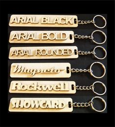 Custom Wooden Keychains