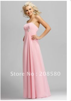 Image detail for -Pink Bridesmaid Dresses Strapless Full length Pearl Pleated Chiffon . Light Pink Bridesmaid Dresses, Designer Bridesmaid Dresses, Designer Dresses, Bridesmaid Gowns, Red Bridesmaids, Dresses Short, Cheap Dresses, Dresses 2014, Prom Dresses
