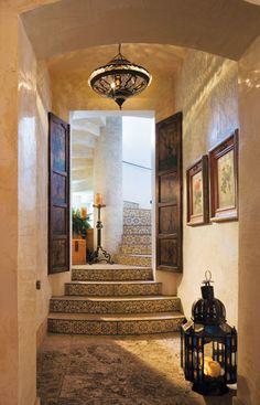 Florida Design -- Morrocan influence by Sean Rush, Sean Rush Design, Palm Beach, FL Exterior Design, Interior And Exterior, Morrocan Decor, Moroccan Lanterns, Floor Design, House Design, Arabian Decor, Exotic Homes, Florida Design