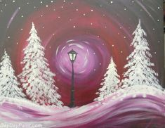 View upcoming paint and sip classes in Glenview. Local artists guide you step-by-step through a painting while you enjoy wine and have fun with friends. Paint And Sip, Arte Elemental, Wine And Canvas, Creation Art, Winter Art Projects, Ecole Art, Winter Painting, Art Classroom, Art Plastique