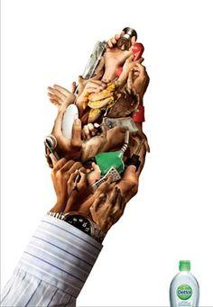 Dettol #creative #smart #clever #advertisements #brilliant #idea