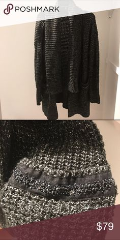 Vera Wang Sweater Brand new w/out tags.. from the Simply Vera Collection w/beautiful beaded design on pockets (2nd pict). tag says XL, but I wore it as an oversized sweater so it can also be worn by size small as well & is very warm ....(The more you buy, the more I lower my prices so bundle & save!!) Simply Vera Vera Wang Jackets & Coats