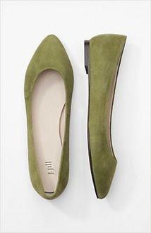 suede almond-toe flats