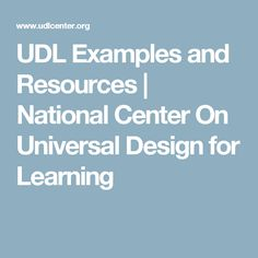 1000 images about udl on pinterest auditory processing - Universal design for learning lesson plans ...