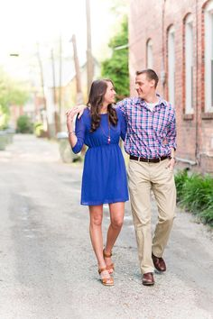 Richmond River Engagement Pictures in downtown carytown RVA Spring photo shoot outfit inspiration