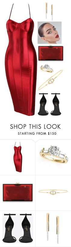 """Ruby"" by shanas ❤ liked on Polyvore featuring Charlotte Olympia, Jemma Wynne, Yves Saint Laurent and Lana Jewelry"