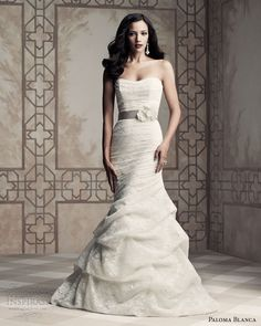 paloma blanca wedding dresses 2013 strapless gown style 4365