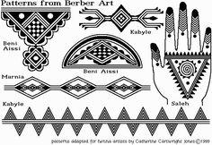 Henna Patterns based on Amazigh folk art Tribal Hand Tattoos, Feather Tattoos, Bird Tattoos, Geometric Tattoos, Tatoos, Mehndi, Croatian Tattoo, Tattoo Grafik, Berber Tattoo