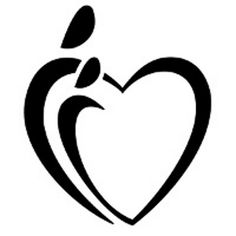 Heart parent child tattoo -
