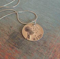Dandelion Sterling Silver Necklace