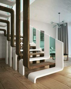 Modern Staircase Design Ideas - Modern stairs can be found in many styles and designs that can be actual eye-catcher in the various location. We have actually put together finest 10 modern models of stairs that can offer. Home Interior Design, Interior Architecture, Interior Decorating, Architecture Colleges, Staircase Architecture, Maquette Architecture, Stairway Decorating, Ikea Interior, Architecture Awards